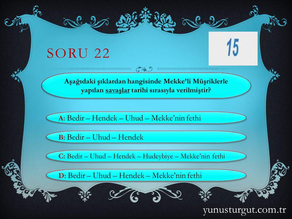 SORU 21 yunusturgut.com.tr