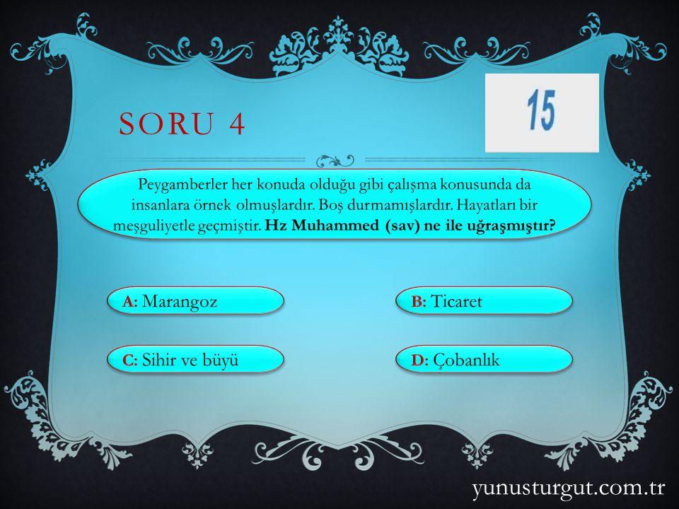 SORU 3 yunusturgut.com.tr