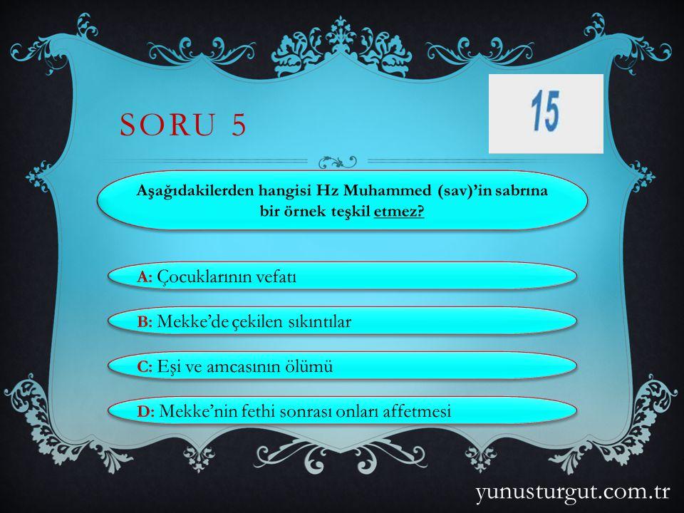 SORU 15 yunusturgut.com.tr
