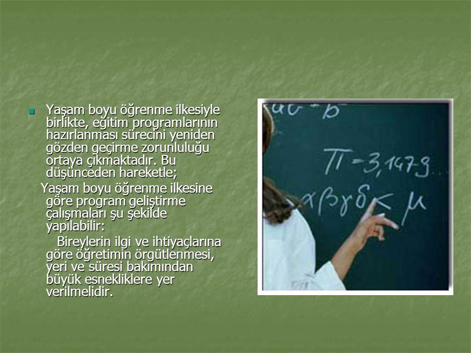 Program Geliştirme Süreci  Okul ve iş hayatı arasındaki boşluğun doldurulması arzulanan amaçtır.