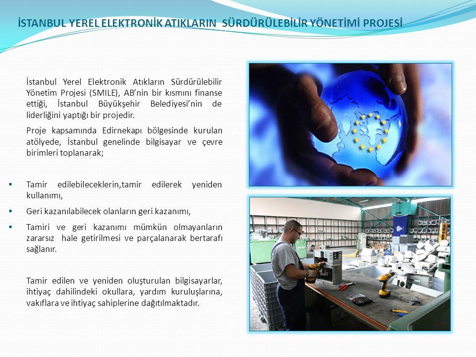 İSTANBUL YEREL ELEKTRONİK ATIKLARIN SÜRDÜRÜLEBİLİR YÖNETİMİ PROJESİ İstanbul Yerel Elektronik Atıkların Sürdürülebilir Yönetim Projesi (SMILE), AB'nin