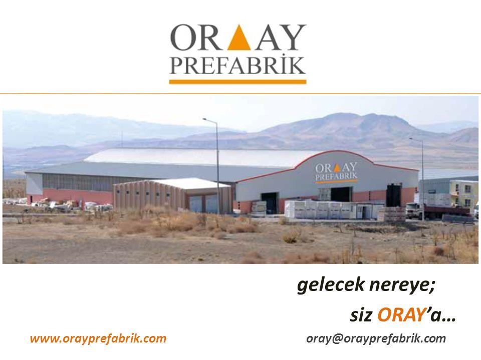 gelecek nereye; siz ORAY'a… www.orayprefabrik.comoray@orayprefabrik.com
