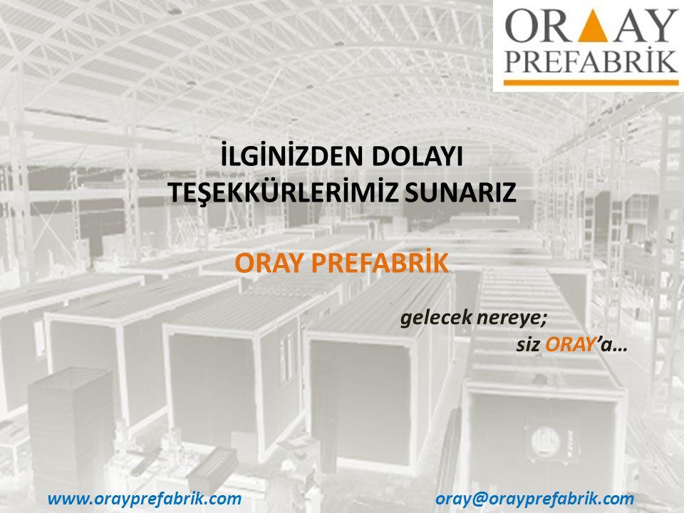 www.orayprefabrik.comoray@orayprefabrik.com İLGİNİZDEN DOLAYI TEŞEKKÜRLERİMİZ SUNARIZ ORAY PREFABRİK gelecek nereye; siz ORAY'a…
