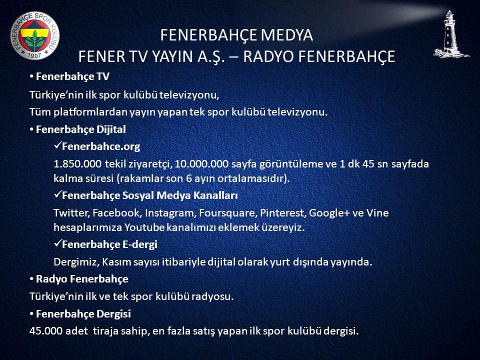 FENERBAHÇE MEDYA FENER TV YAYIN A.Ş. – RADYO FENERBAHÇE • Fenerbahçe TV Türkiye'nin ilk spor kulübü televizyonu, Tüm platformlardan yayın yapan tek sp