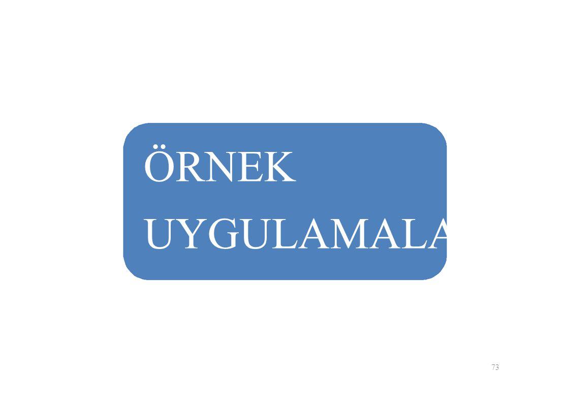 ÖRNEK UYGULAMALAR 73