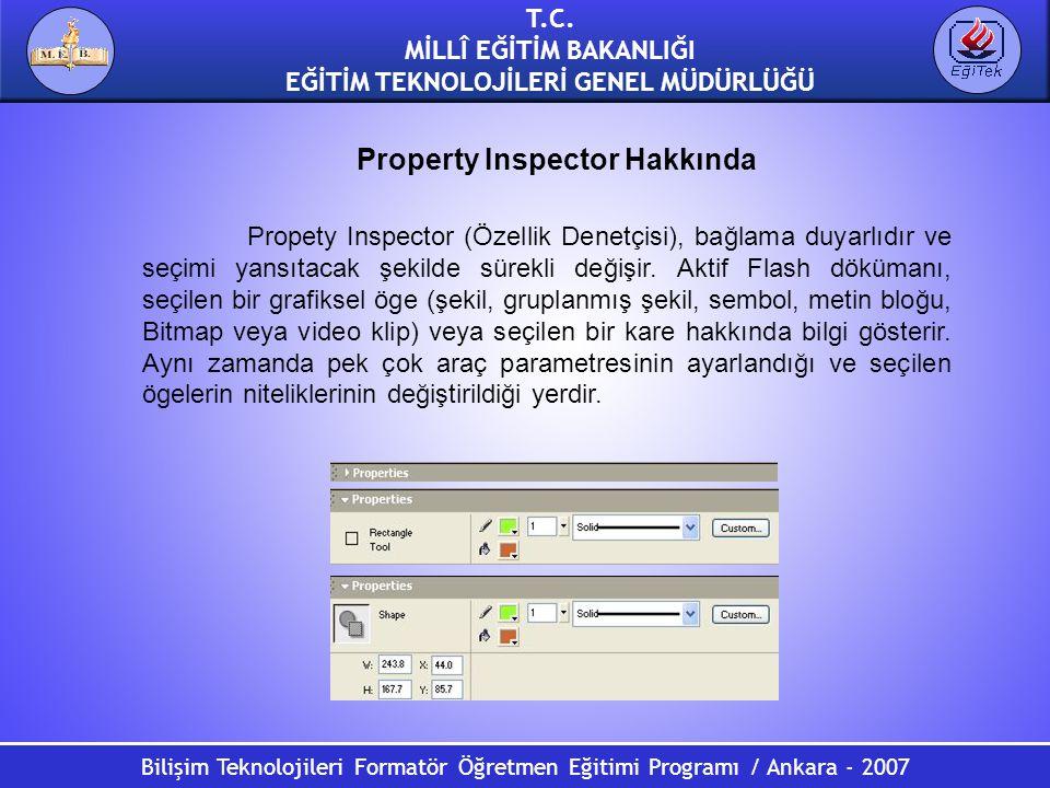 Bilişim Teknolojileri Formatör Öğretmen Eğitimi Programı / Ankara - 2007 T.C. MİLLÎ EĞİTİM BAKANLIĞI EĞİTİM TEKNOLOJİLERİ GENEL MÜDÜRLÜĞÜ Property Ins