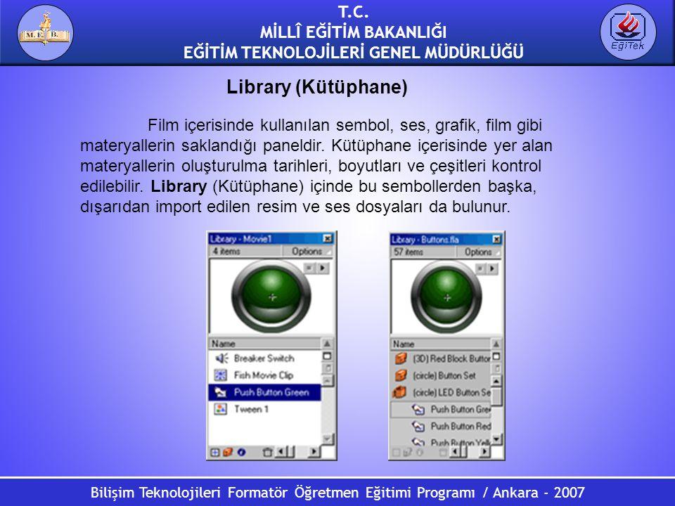 Bilişim Teknolojileri Formatör Öğretmen Eğitimi Programı / Ankara - 2007 T.C. MİLLÎ EĞİTİM BAKANLIĞI EĞİTİM TEKNOLOJİLERİ GENEL MÜDÜRLÜĞÜ Library (Küt
