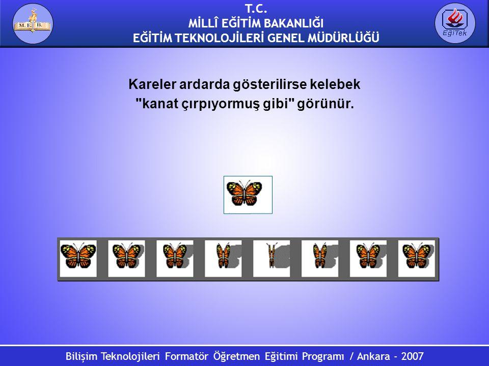 Bilişim Teknolojileri Formatör Öğretmen Eğitimi Programı / Ankara - 2007 T.C. MİLLÎ EĞİTİM BAKANLIĞI EĞİTİM TEKNOLOJİLERİ GENEL MÜDÜRLÜĞÜ Kareler arda