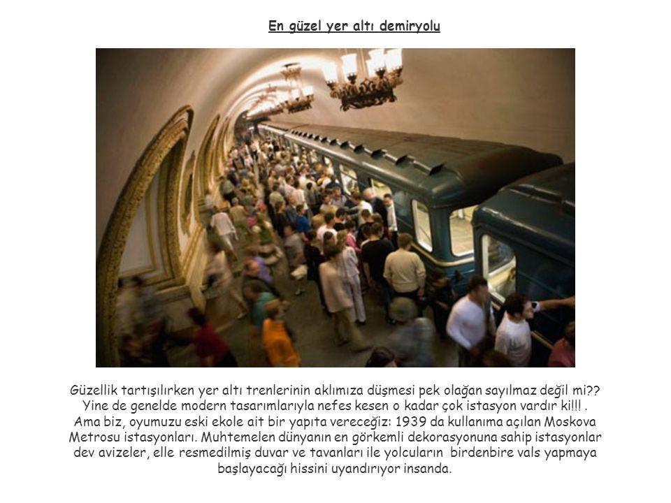 En güzel yer altı demiryolu Güzellik tartışılırken yer altı trenlerinin aklımıza düşmesi pek olağan sayılmaz değil mi?? Yine de genelde modern tasarım