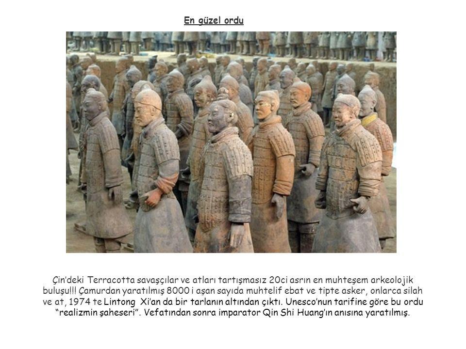 En güzel ordu Çin'deki Terracotta savaşçılar ve atları tartışmasız 20ci asrın en muhteşem arkeolojik buluşu!!! Çamurdan yaratılmış 8000 i aşan sayıda