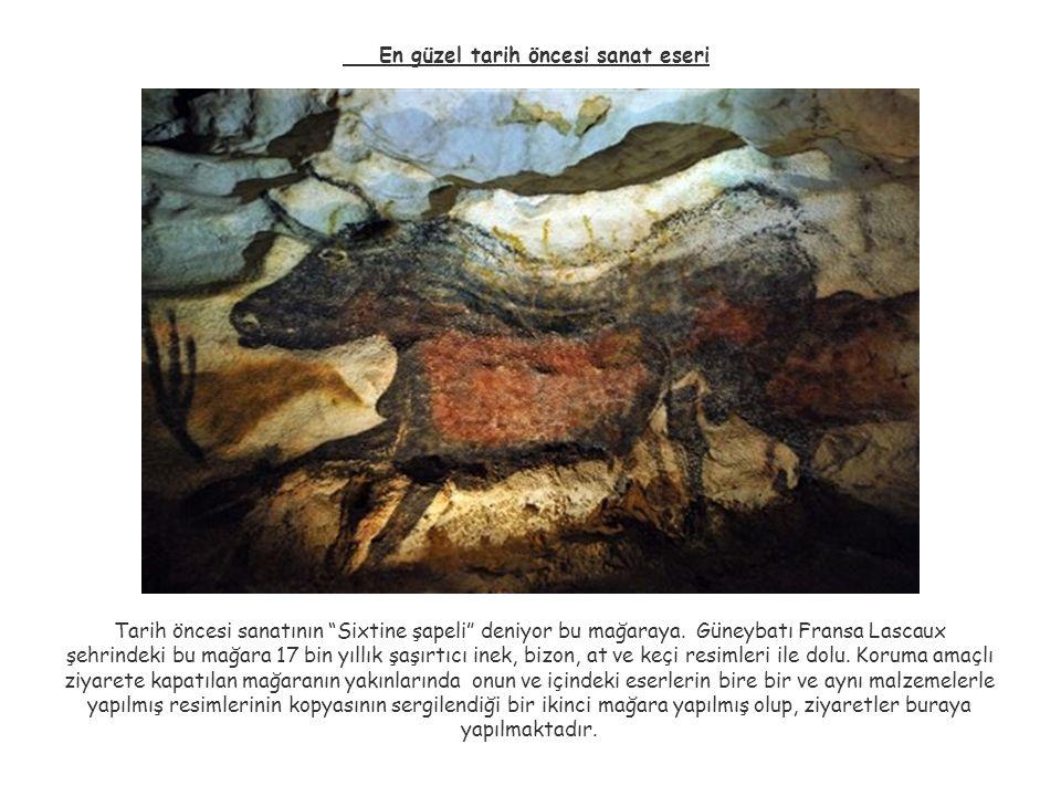"""En güzel tarih öncesi sanat eseri Tarih öncesi sanatının """"Sixtine şapeli"""" deniyor bu mağaraya. Güneybatı Fransa Lascaux şehrindeki bu mağara 17 bin yı"""