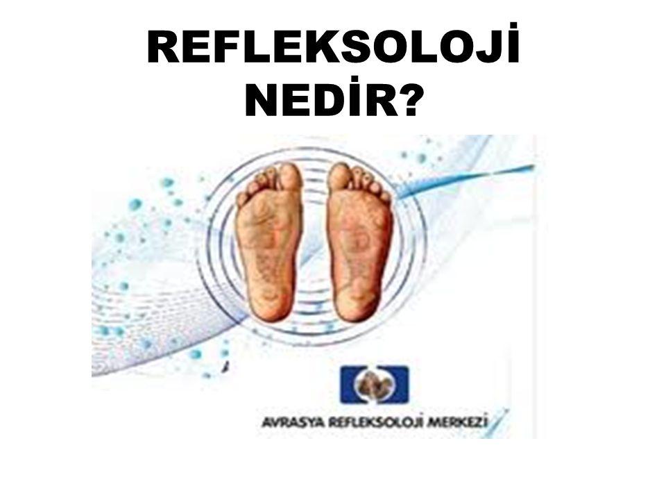 REFLEKSOLOJİ NEDİR Refleks Bilimi; beyindeki sinirlerin el ve ayaklarda son bulan noktalarına uygulanan tekniksel ve bilimsel tedavi aşamasında tamamlayıcı bir yöntemdir.
