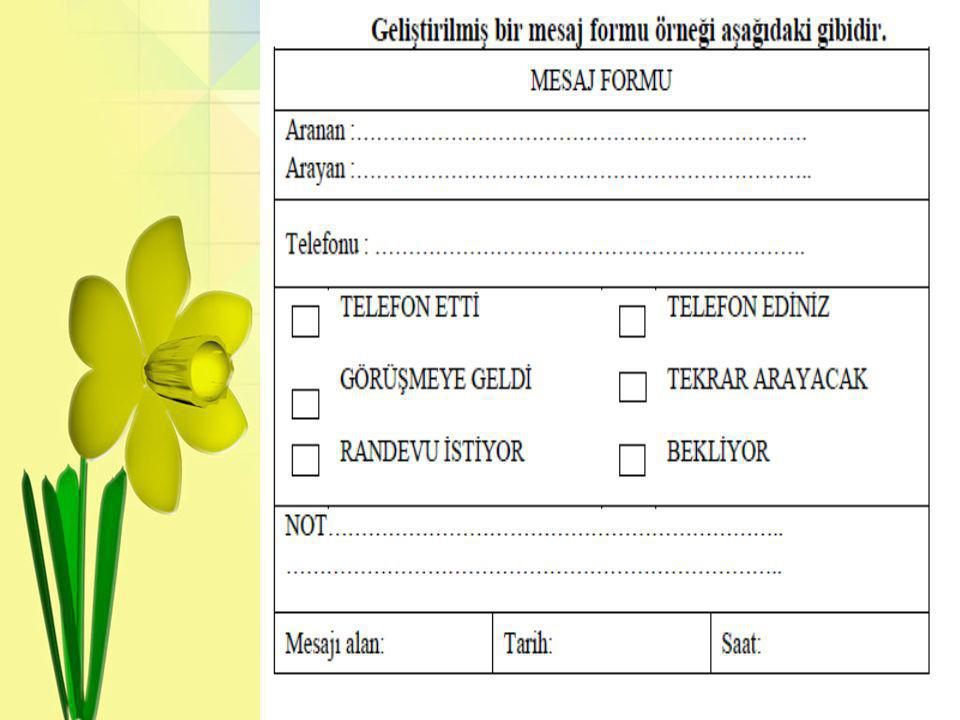•Mesaj Formları(Telefon Kayıt Formu) Kullanma