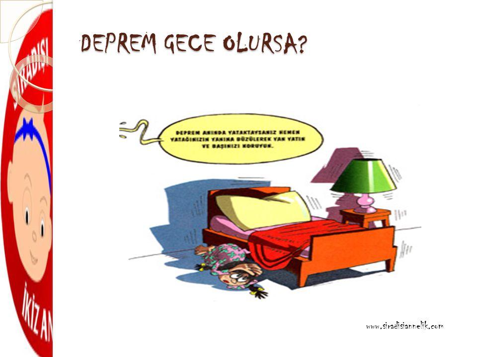 DEPREM GECE OLURSA? www.siradisiannelik.com