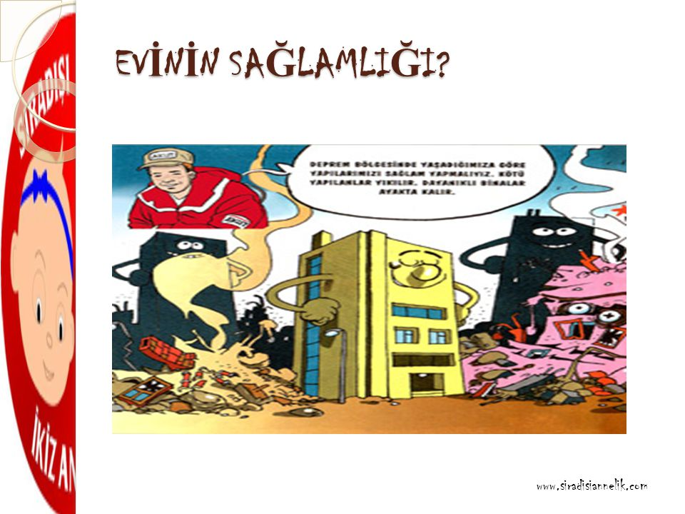 EV İ N İ N SA Ğ LAMLI Ğ I www.siradisiannelik.com
