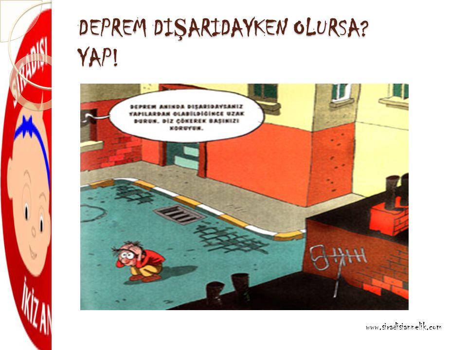 DEPREM DI Ş ARIDAYKEN OLURSA YAP! www.siradisiannelik.com