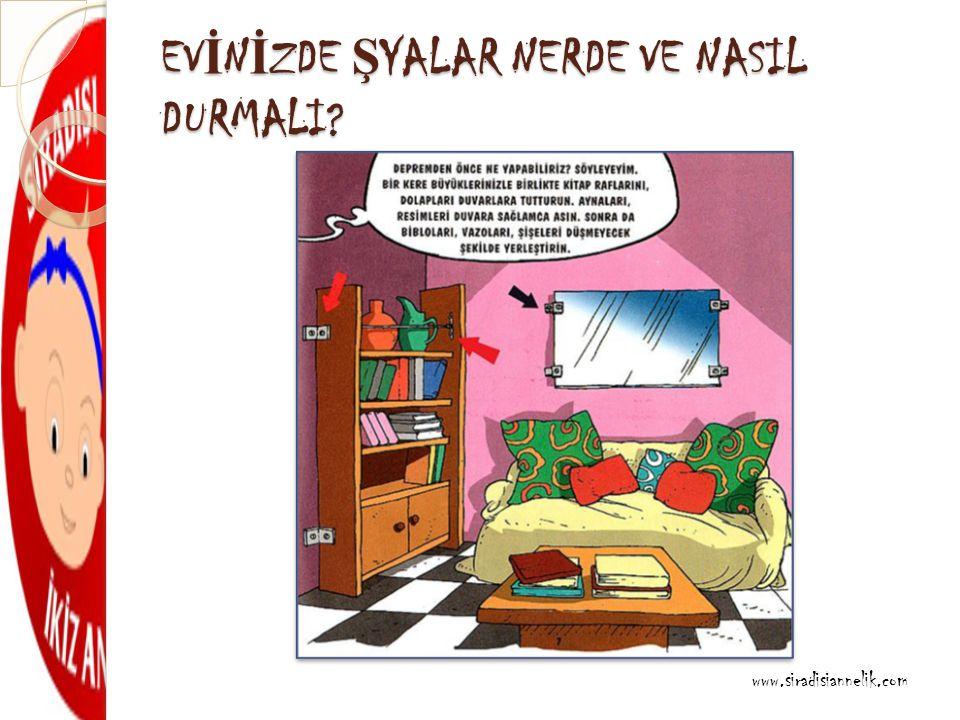 EV İ N İ ZDE Ş YALAR NERDE VE NASIL DURMALI www.siradisiannelik.com