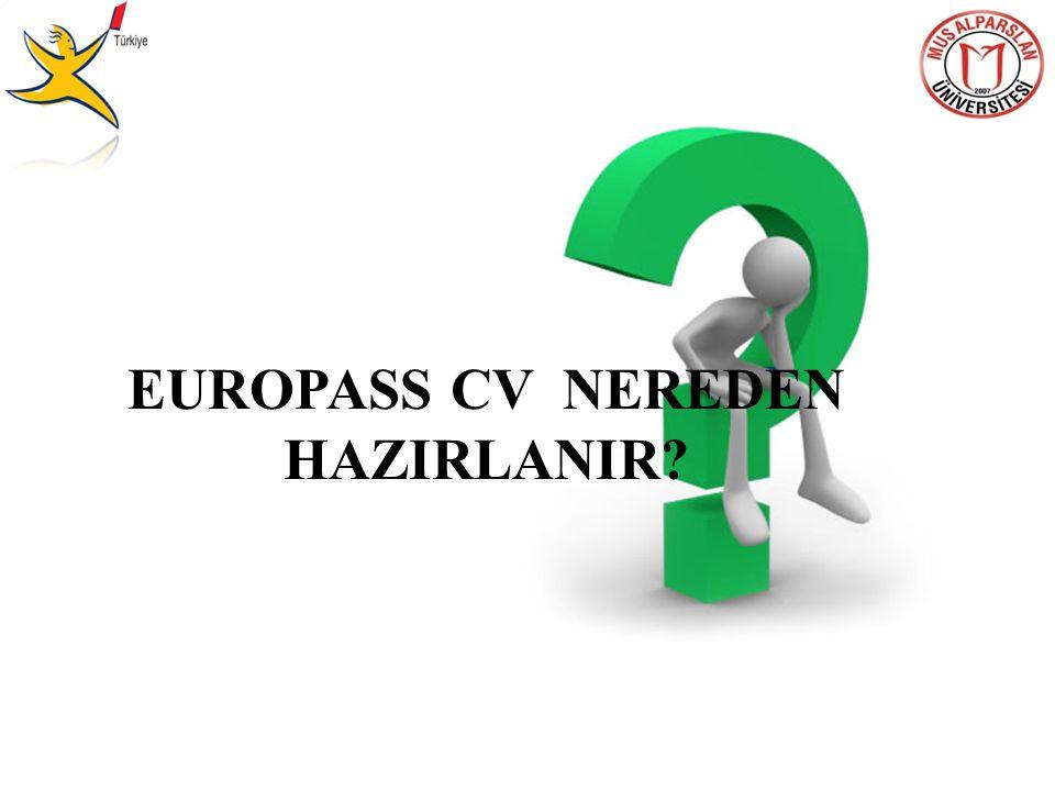 EUROPASS CV NEREDEN HAZIRLANIR?