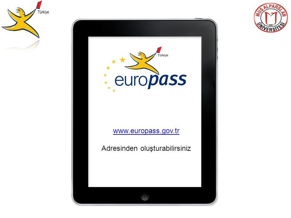 www.europass.gov.tr Adresinden oluşturabilirsiniz