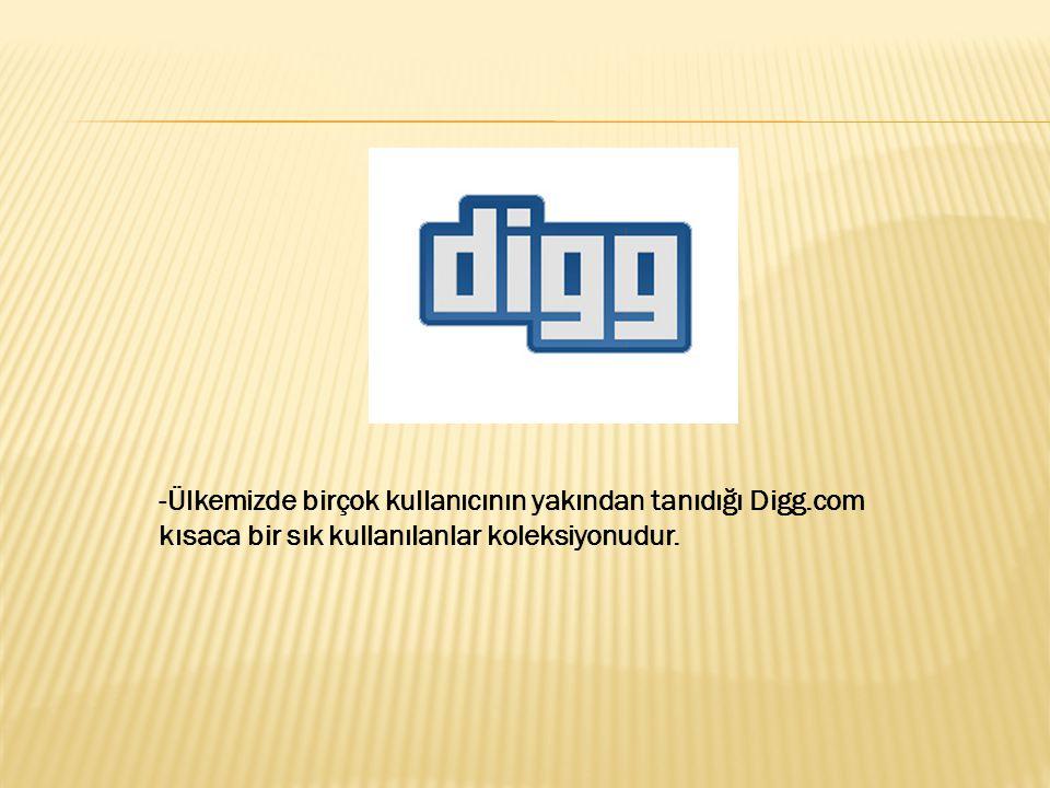 -Ülkemizde birçok kullanıcının yakından tanıdığı Digg.com kısaca bir sık kullanılanlar koleksiyonudur.