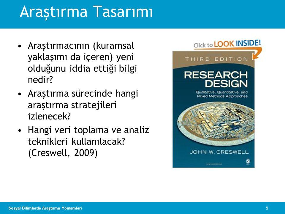 6Sosyal Bilimlerde Araştırma Yöntemleri Araştırma Tasarımları Nitel Nicel Karma yöntemler Araştırma Yöntemleri Sorular Kuramsal bakış Veri toplama Veri analizi Yazma Seçme Araştırma Stratejileri Nitel stratejiler (ör., etnografik) Nicel stratejiler (ör., deneysel) Karma stratejiler (ör., sıralı) Kaynak: Creswell 2009, s.