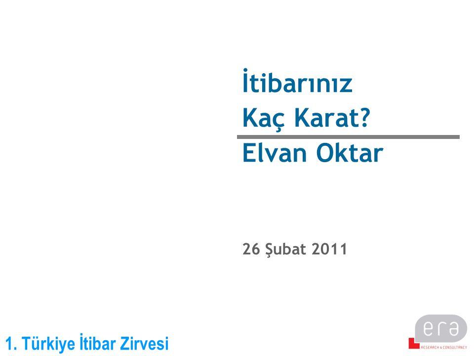1. Türkiye İtibar Zirvesi İtibarınız Kaç Karat? Elvan Oktar 26 Şubat 2011