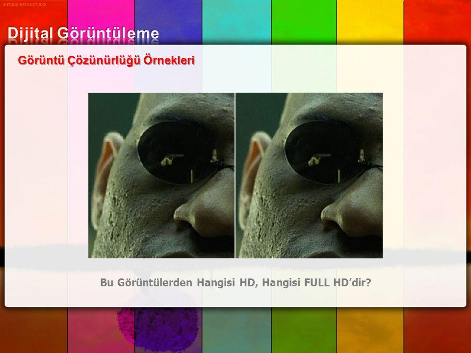 Görüntü Çözünürlüğü Örnekleri Bu Görüntülerden Hangisi HD, Hangisi FULL HD'dir?