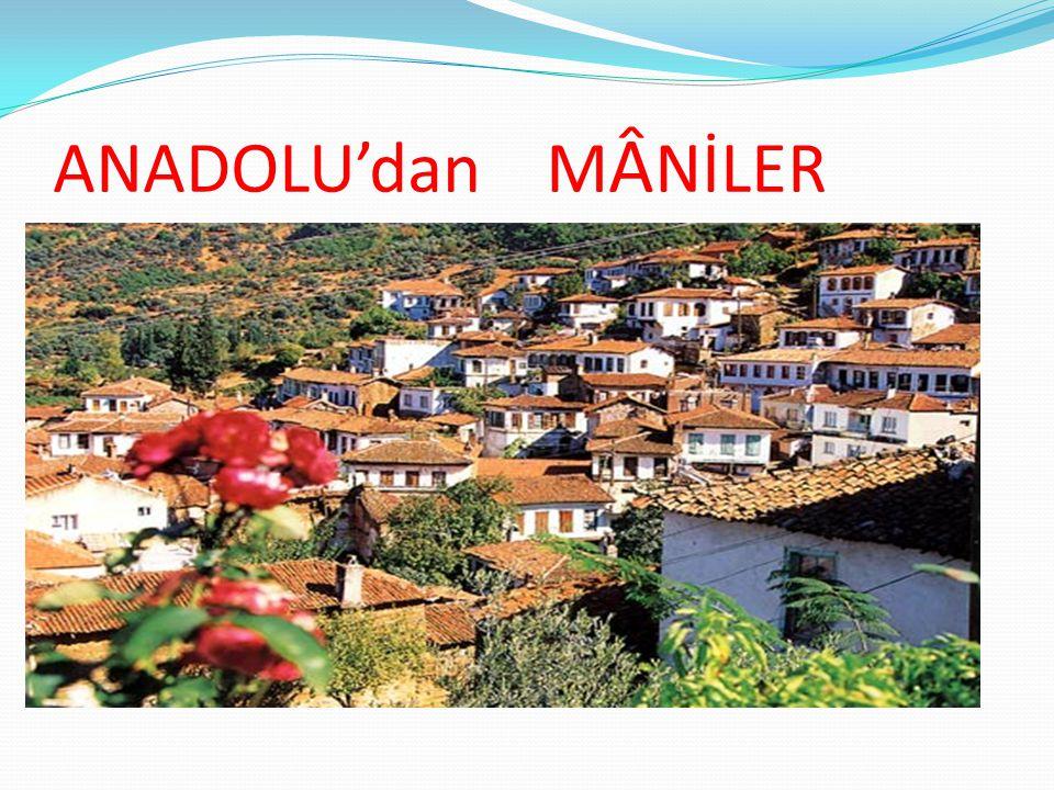 ANADOLU'dan M Â NİLER
