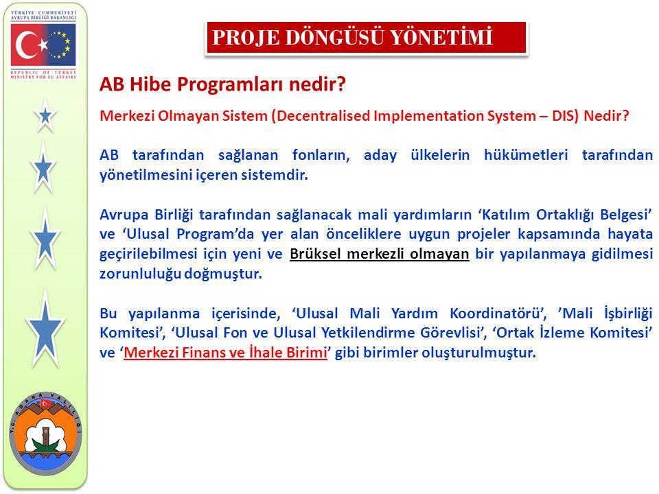 AB Hibe Programları nedir? Merkezi Olmayan Sistem (Decentralised Implementation System – DIS) Nedir? AB tarafından sağlanan fonların, aday ülkelerin h