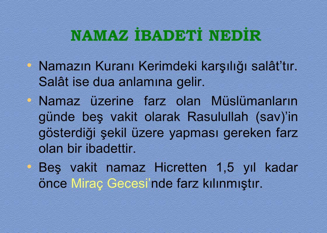 • Bayram namazı Cuma namazı farz olan Müslümanlara vaciptir.