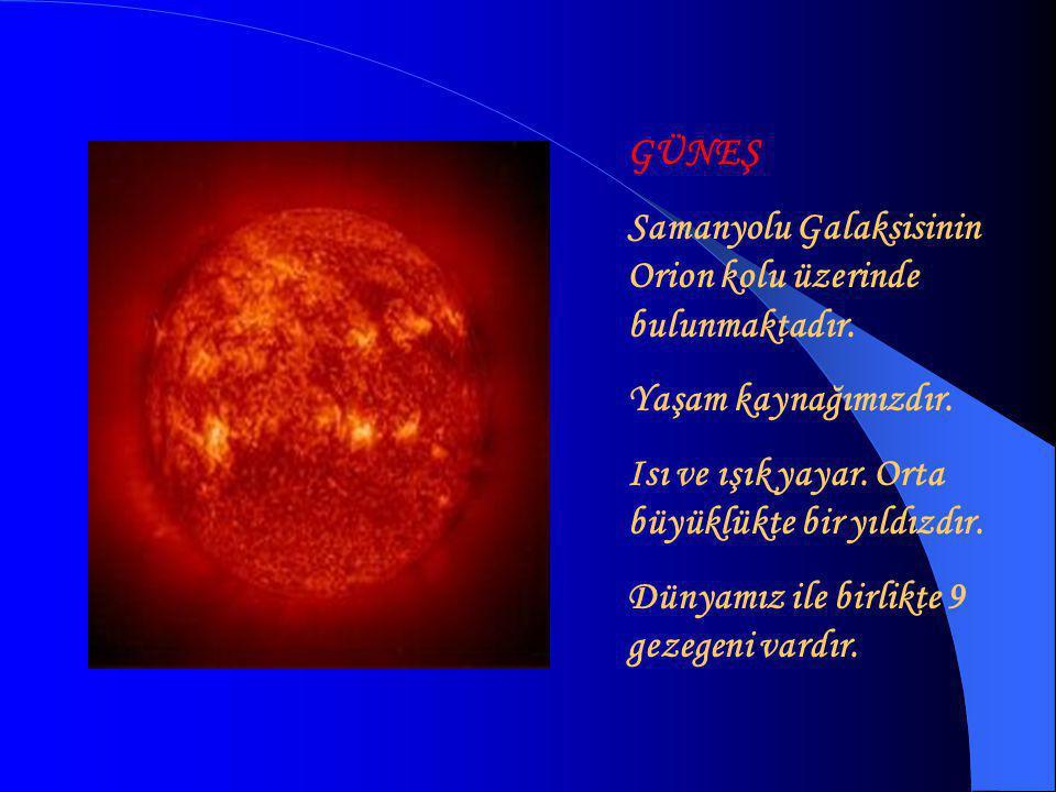 SATÜRN 6.GEZEGEN Güneş sisteminde yoğunluğu sudan az olan tek gezegendir.
