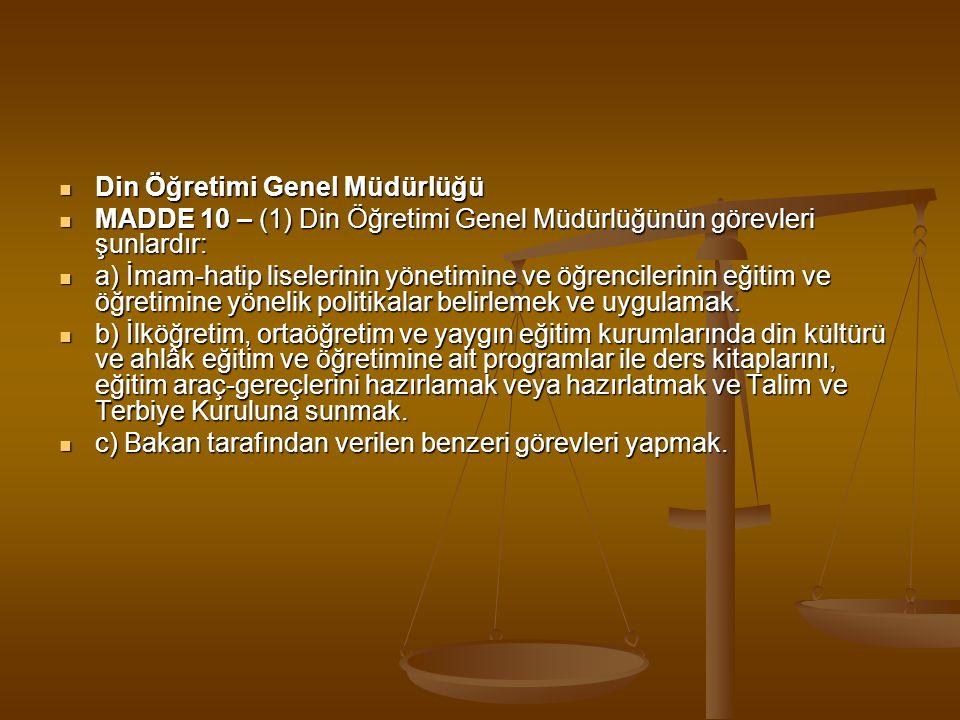  Özel Eğitim ve Rehberlik Hizmetleri Genel Müdürlüğü  MADDE 11 – (1) Özel Eğitim ve Rehberlik Hizmetleri Genel Müdürlüğünün görevleri şunlardır:  a) İlgili bakanlıklarla işbirliği içinde, özel eğitim sınıfları, özel eğitim okulları, rehberlik ve araştırma merkezleri, iş okulları ve iş eğitim merkezleri ile aynı seviye ve türdeki benzeri okul ve kurumların yönetimine ve öğrencilerin eğitim ve öğretimine yönelik politikalar belirlemek ve uygulamak.