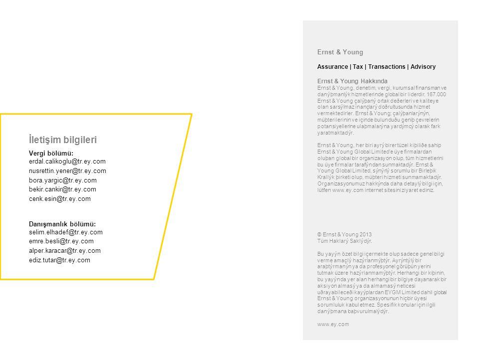 Ernst & Young Assurance | Tax | Transactions | Advisory Ernst & Young Hakkında Ernst & Young, denetim, vergi, kurumsal finansman ve danýþmanlýk hizmet
