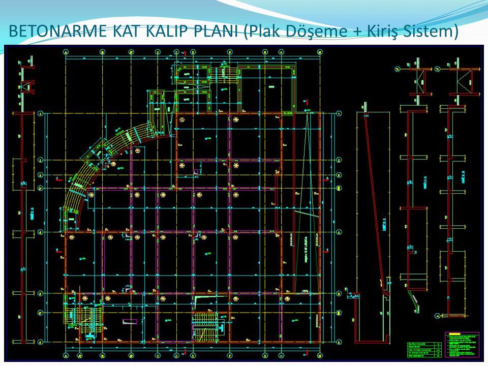 BETONARME KAT KALIP PLANI (Plak Döşeme + Kiriş Sistem)