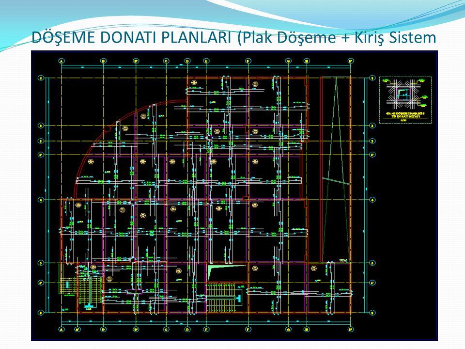 DÖŞEME DONATI PLANLARI (Plak Döşeme + Kiriş Sistem