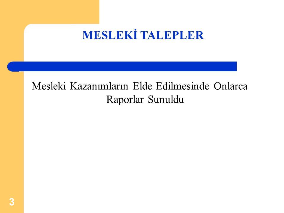 4  Kaçak Muhasebeci Olgusu ve Meslek Mensuplarının Sorunları, Çözüm Önerileri Hakkında (14.01.1993)  Vergi İdaresi İle Meslek Mensupları Arasında Yaşanan Sorunlar ve Çözüm Önerileri Hakkında (20.02.1993)  Vergi İdaresinde Yaşanan Sorunlar ve Çözüm Önerileri Hakkında (20.12.1994)  Tekdüzen Muhasebe Sistemi Tebliğine Göre Bilanço, Gelir Tablosu Dip Notlarının Hiç Yazılmaması veya Eksik Yazılması Nedeniyle Vergi Dairelerinin Farklı Uygulamasının Engellenmesi Hakkında (23.12.1996)  Kamu Alacaklarının Tahsilatının Hızlandırılması ve Af Kanunu Uygulamaları Hakkında (02.01.1997)  Vergi Daireleri Arasında Uygulama Birlikteliğinin Sağlanması Hakkında (24.03.1998)  Beyannamelerin Bilgisayar Çıktılı Olarak Kabul Edilmesi Hakkında (13.03.1998)  Vergi Kanunları Tasarısı Hakkında (03.04.1998)  Geçici Vergi Döneminin Yetersizliği, ABC Formlarının Kaldırılması, YMM Raporu Aranan Yeniden Değerleme ve Yatırım İndirimindeki Tutarların Yeniden Belirlenmesi Hakkında (07.04.1999)