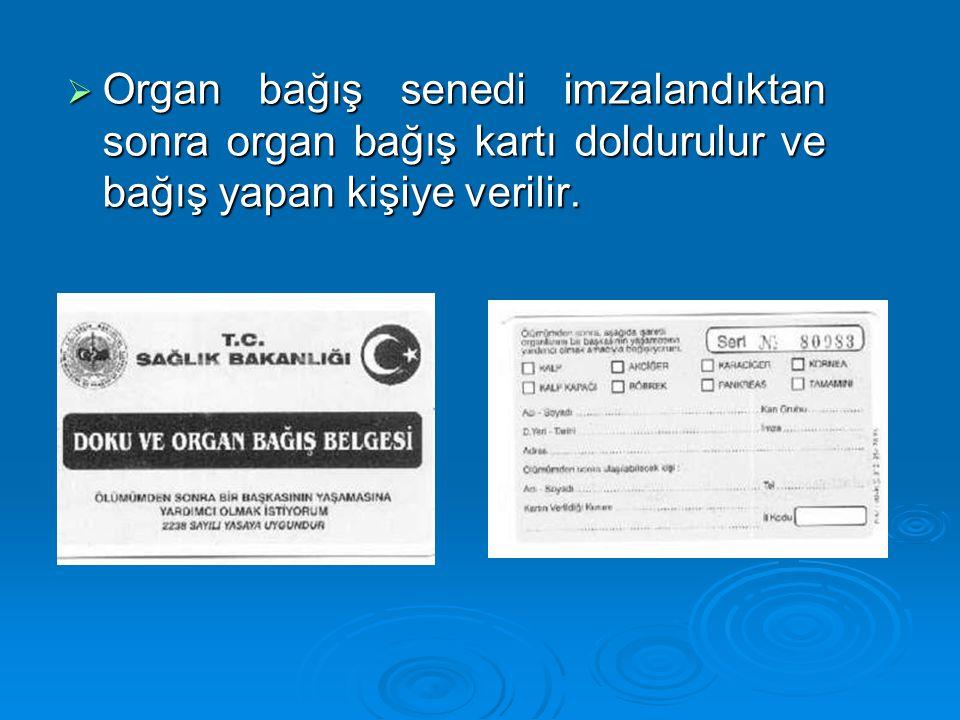  Bir çok hasta bağışlanmış bir organ beklerken ölmektedir.