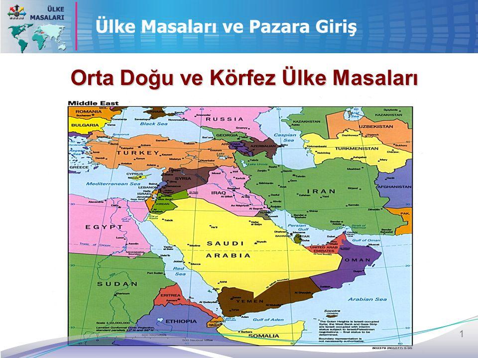 1 Orta Doğu ve Körfez Ülke Masaları