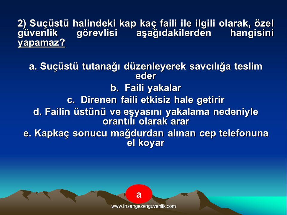 www.ihsangezenguvenlik.com 3) Aşağıdakilerden hangisi özel güvenlik görevlisinin kullanabileceği temel hak ve hürriyetlerden değildir.