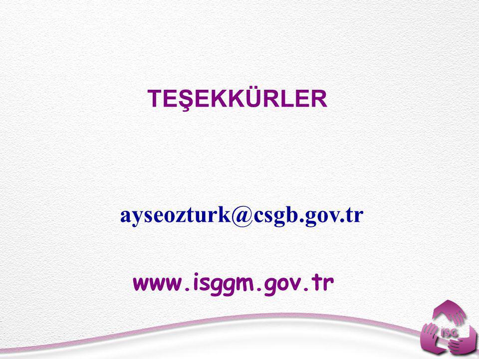 www.isggm.gov.tr TEŞEKKÜRLER ayseozturk@csgb.gov.tr