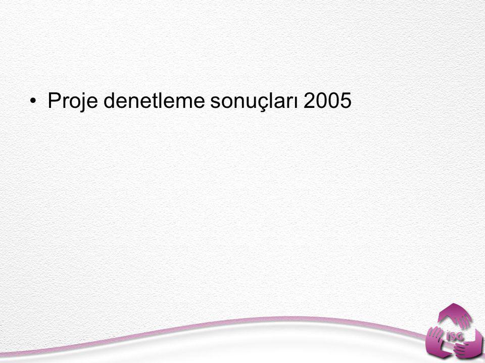 •Proje denetleme sonuçları 2005