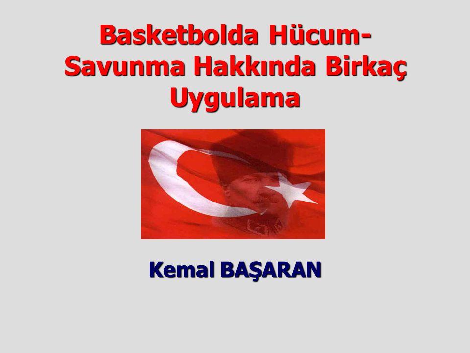 Basketbolda Hücum- Savunma Hakkında Birkaç Uygulama Kemal BAŞARAN