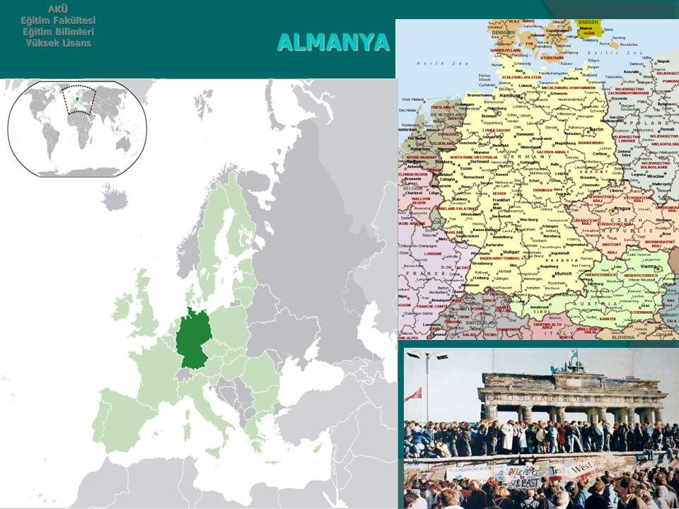 ALMANYA GENEL BİLGİLER.Almanya sınırları 357,021 km² lik bir alanı kaplar.