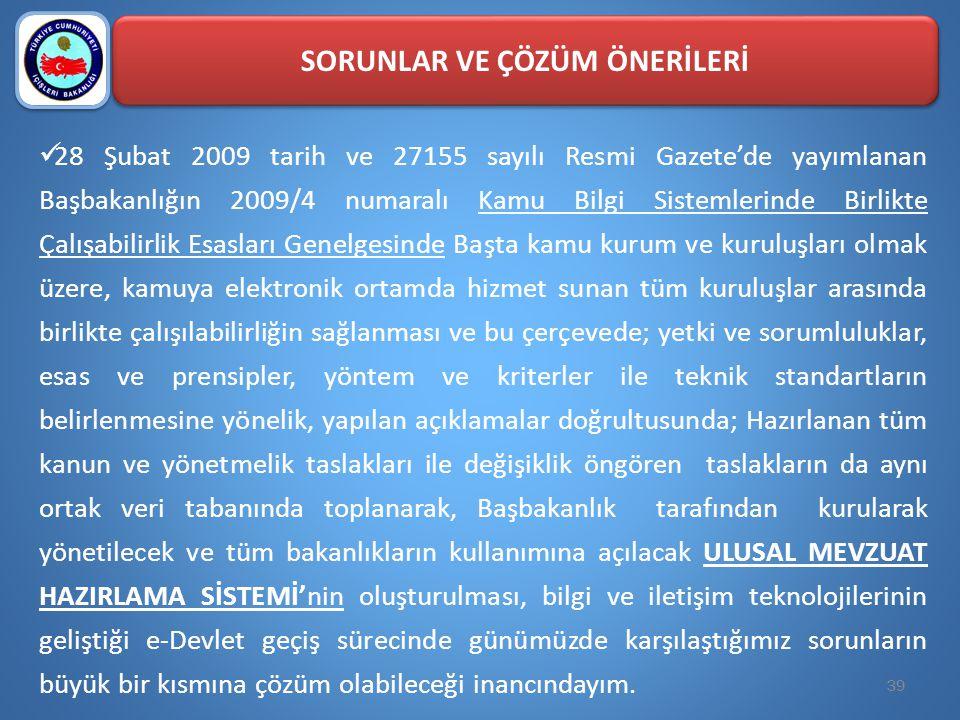  28 Şubat 2009 tarih ve 27155 sayılı Resmi Gazete'de yayımlanan Başbakanlığın 2009/4 numaralı Kamu Bilgi Sistemlerinde Birlikte Çalışabilirlik Esasla
