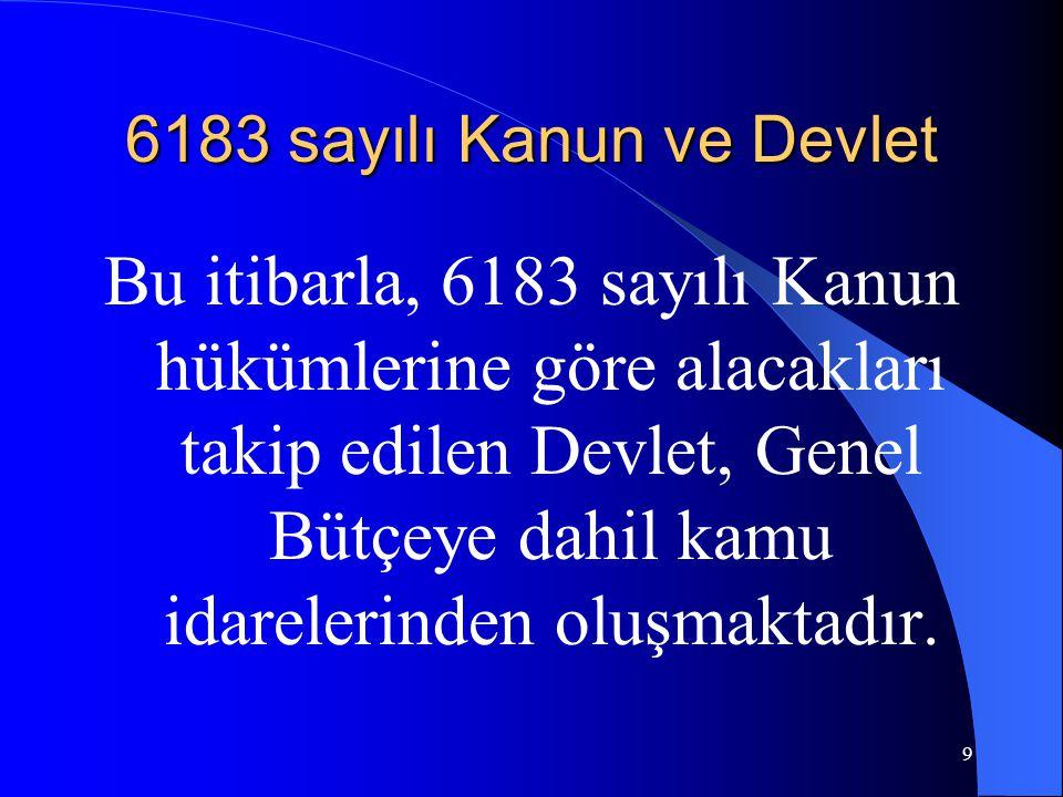 Teminat İstemede Süre 6183 sayılı Kanunda özel bir düzenleme bulunmamaktadır.