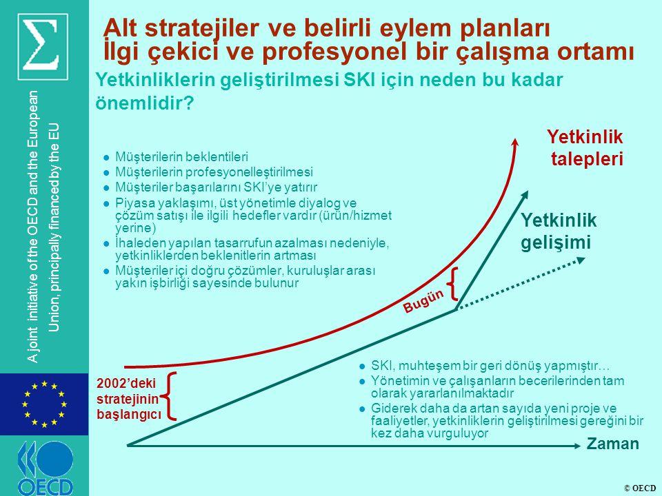 © OECD A joint initiative of the OECD and the European Union, principally financed by the EU Alt stratejiler ve belirli eylem planları İlgi çekici ve profesyonel bir çalışma ortamı Yetkinliklerin geliştirilmesi SKI için neden bu kadar önemlidir.