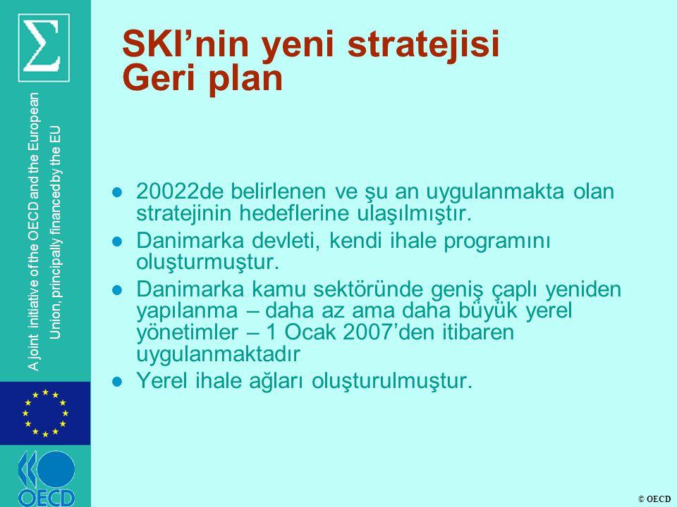 © OECD A joint initiative of the OECD and the European Union, principally financed by the EU SKI'nin yeni stratejisi Geri plan l 20022de belirlenen ve şu an uygulanmakta olan stratejinin hedeflerine ulaşılmıştır.