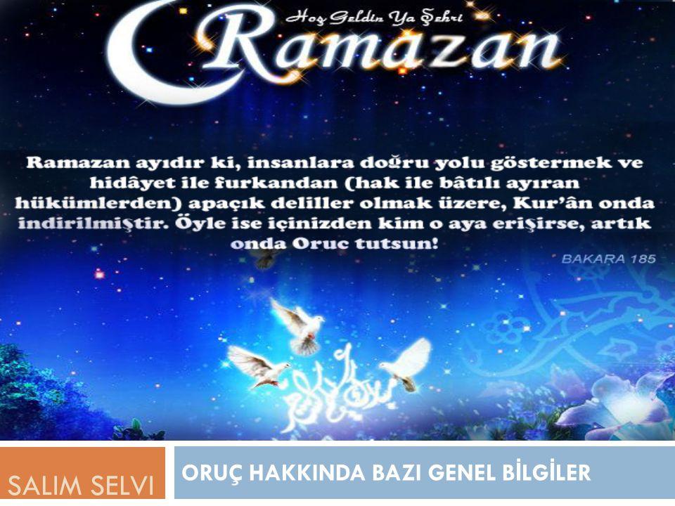1.Ramazan Orucu Kimlere Farzdır.
