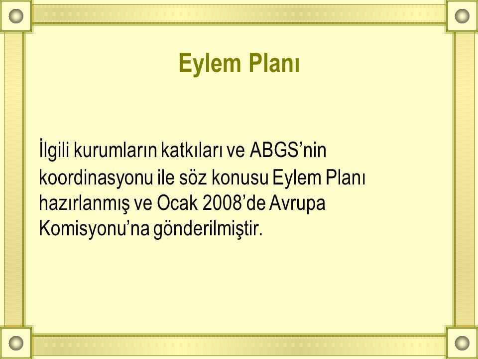 Eylem Planı İlgili kurumların katkıları ve ABGS'nin koordinasyonu ile söz konusu Eylem Planı hazırlanmış ve Ocak 2008'de Avrupa Komisyonu'na gönderilm