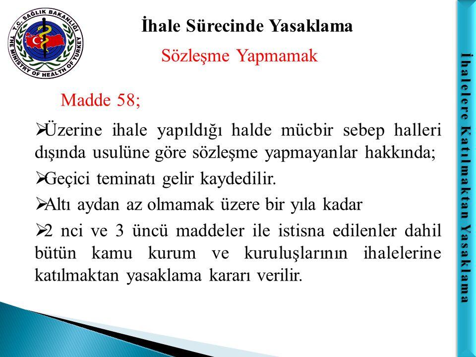 İhalelere Katılmaktan Yasaklama Doğrudan Temin Önemli Not:  Bununla birlikte; doğrudan temin usulüyle yapılan alımlarda ortaya çıkan 4734 sayılı Kanunun 17 inci ve 4735 sayılı Kanunun 25 inci maddesinde belirtilen yasak fiil veya davranışların Türk Ceza Kanununa göre suç teşkil etmesi; bu fiil veya davranışlar için ceza sorumluluğuna ilişkin hükümlerin uygulanmasına engel teşkil etmez.